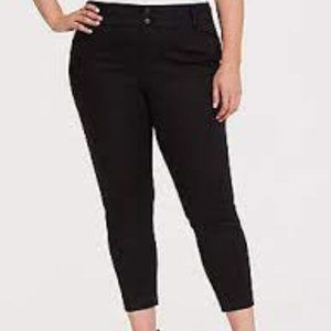 NWT TORRID Stripe Ponte Stretch Ankle Skinny Pants